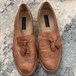 Steve Madden tan leather loafers. Sz 9.5